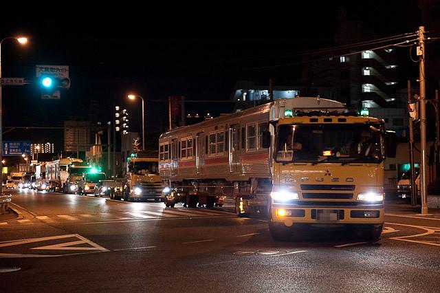 伊予鉄道3000系 クハ3310・モハ3110 陸送