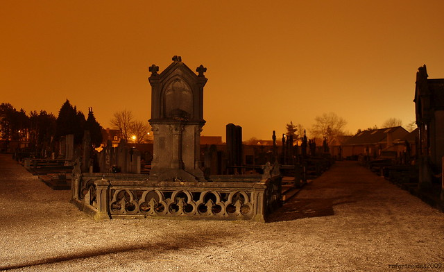 cemetry @ night