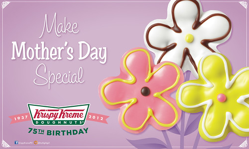 Krispy Kreme Mother's Day Flower Doughnuts