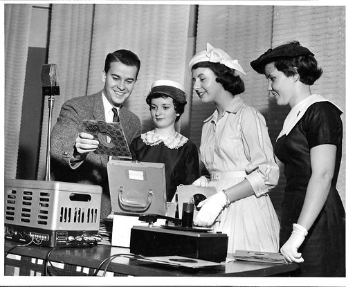 Dick Clark and me - the Snellenburg Sewing Contest, Philadelphia, PA 1957