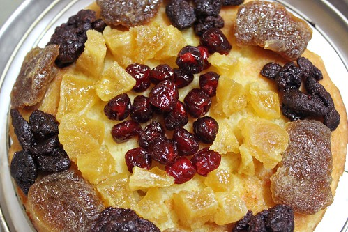 Almond Cake with Dried Fruit