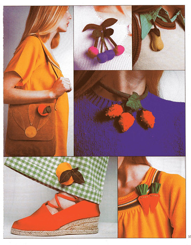 vintage sewing felt fruit jewellery