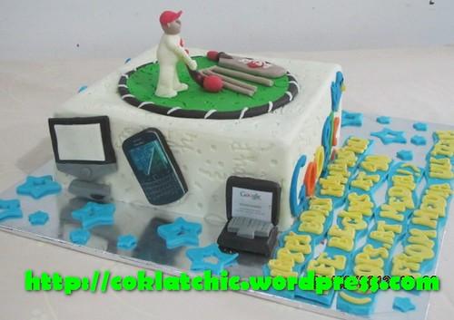 Cake Images Himanshu : Cake Cricket dan Gadget   HIMANSHU Jual Kue Ulang Tahun