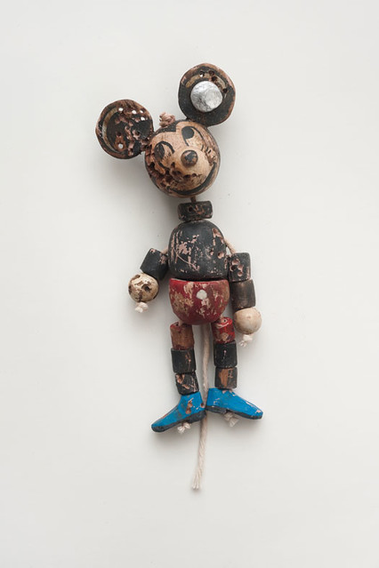 Kristen Morgin, Untitled Mickey with Blue Adidas, 2011