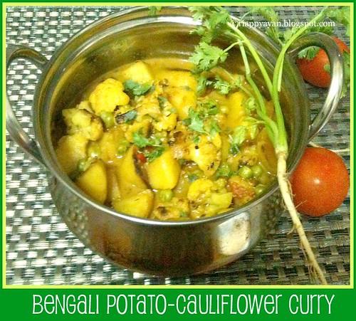 Bengali aloo-phulgobhi curry