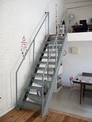 floor, shelf, wall, handrail, room, property, loft, interior design, hardwood, stairs, flooring,