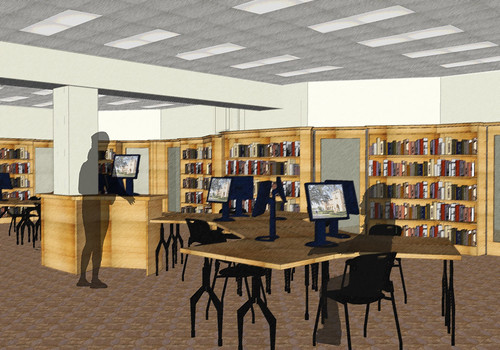 View of Offices through Learning Commons