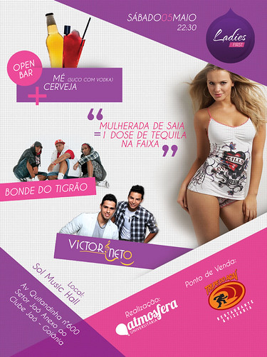 Flyer - Ladies First (verso) by chambe.com.br