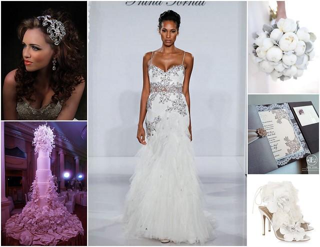 Modern, elegant, luxurious bridal style