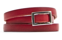 Mango Women's Slim Leather Belt