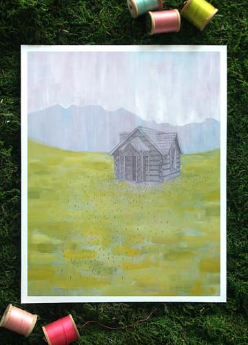 8x10 Safe Pasture print