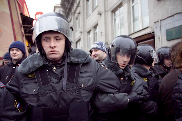 """Акция """"Стратегии-31"""" на Триумфальной площади в Москве, 31 марта 2 012"""