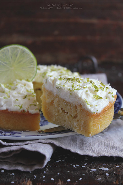 Coconut Lime Cake With Rum Frosting