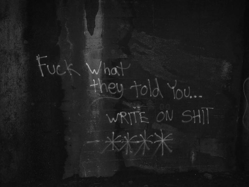write on shit