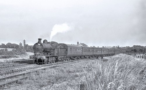 49064 at Tyn Y Caeau Junction  10th July 1955 by John Wiltshire