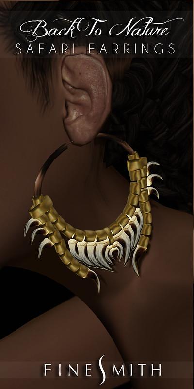 Finesmith safari earrings