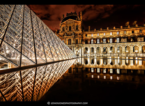 Louvre Night View Paris