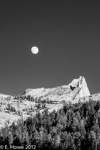 Edie's Image of the Day: Moonrise, Cathedral Peak