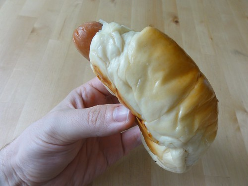 Hot dog bun from a Chinese bakery