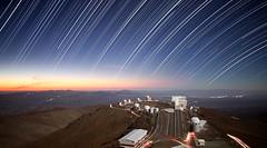 Star trails over La Silla
