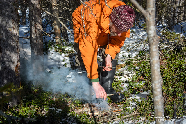 An Arctic Adventure in Swedish Lapland - Leif Makes a Fire
