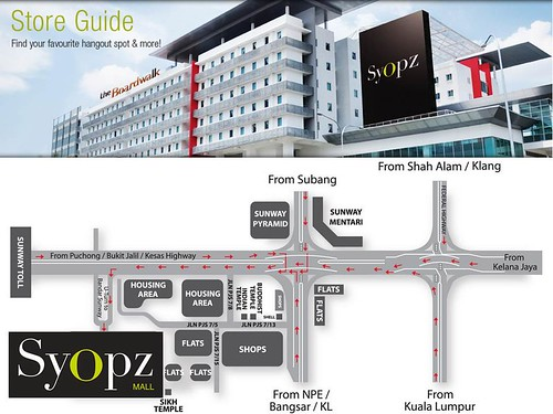 Syopz mall - location map