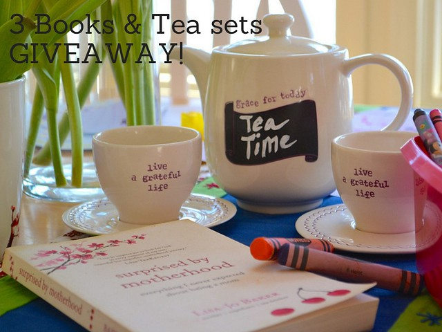 Three Book and Tea Set GIVEAWAY