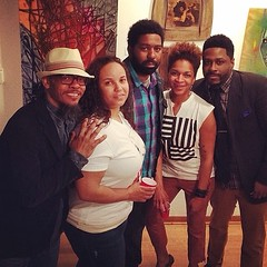 4/7 of the #AllUsWe #Chicago #artist #collective last night at the opening of our new gallery space!