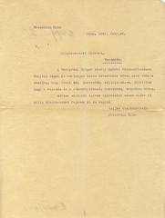 II/14. Fridrich Kolm bécsi lakos a veszprémi Faipar Rt. árja volta felől érdeklődik, mivel kereskedelmi kapcsolatba kíván lépni a céggel