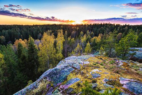 sunset finland landscape vihti palakoski
