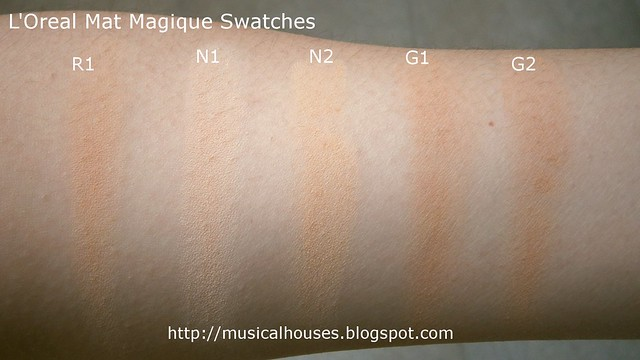 LOreal Mat Magique Matte Powder Swatches