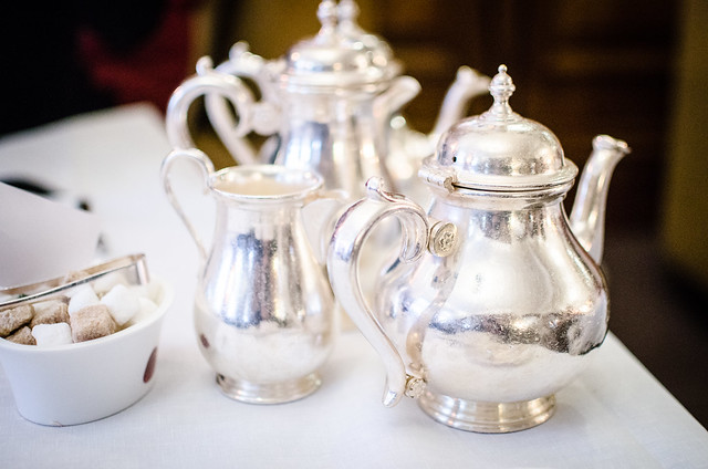 Afternoon Tea at Brown's Hotel in London is served with real silver.