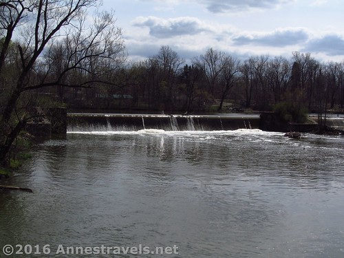A very bad picture of the spillway at Ganargua Creek along the Erie Canal Path east of Palmyra, New York