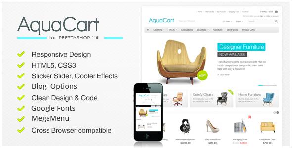 AquaCart v1.0 - Responsive PrestaShop 1.6 Theme