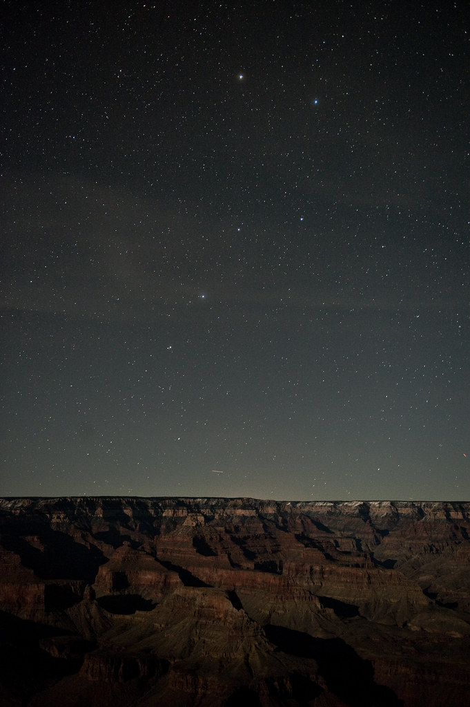 Ursa Major and The Grand Canyon in Moonlight