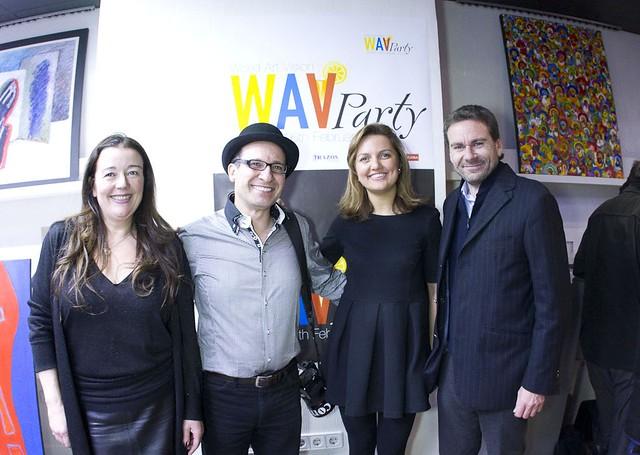 WAV Party Madrid 2012 - Luisa Noriega; Danish Saroee; Carlotta Marzaioli; Vito Abba;
