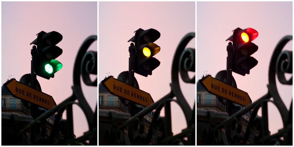 Traffic Lights at Dawn