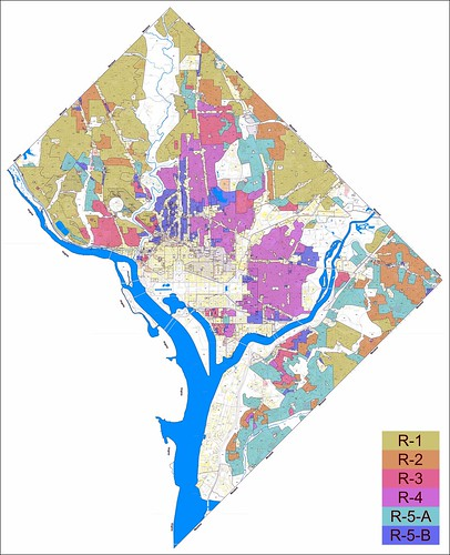 DC residential zoning map (via Greater Greater Washington)