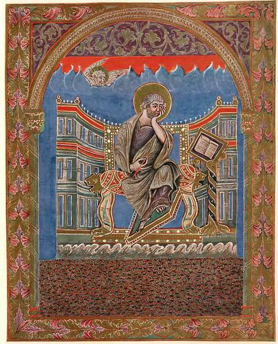 010-Imagen del evangelista Marcos-Evangeliar  Codex Aureus - BSB Clm 14000-© Bayerische Staatsbibliothek