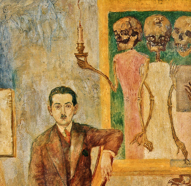 [ E ] James Ensor - Portrait of Carol Deutsch (1928) - Detail