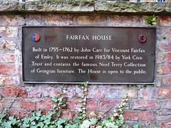 Photo of John Carr bronze plaque
