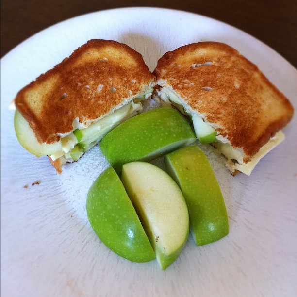 Muenster + #green apple grilled cheese :) yum!!! #febphotoaday #day25