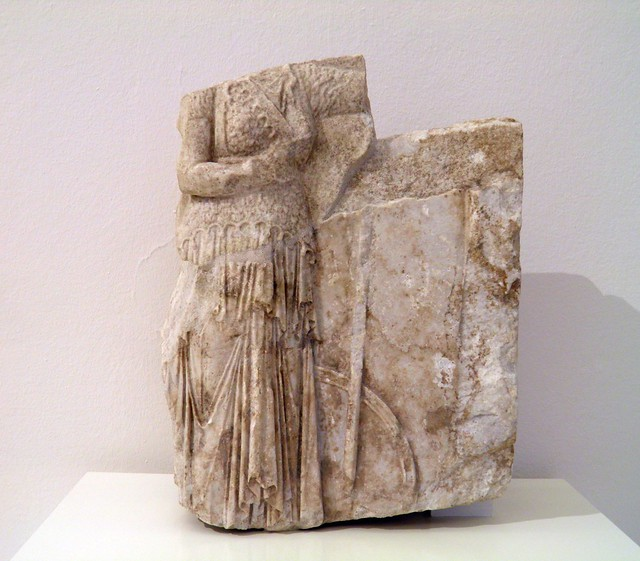 Relief with statuette of Athena, Hellenistic, 160 BC, Pergamon: Panorama of the Ancient City Exhibition, Pergamon Museum, Berlin