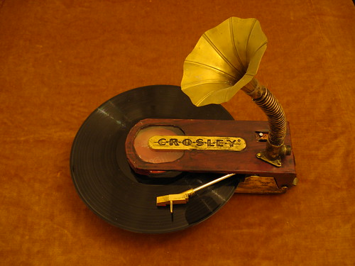 Steampunk Portable Turntable
