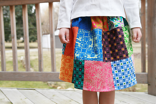 Patchwork Skirt Front