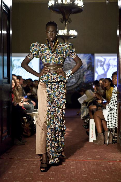 'Fashion Enigma' was the collection theme from design duo Blacktrash from Botswana  A model was wearing their dress during the fashion show (2).jpg