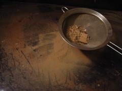 Sieving sawdust