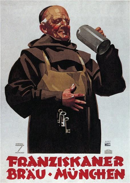Ludwig Hohlwein. Franziskaner Beer. 1935