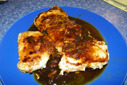 Pork Loin Chops with Orange Curry Sauce