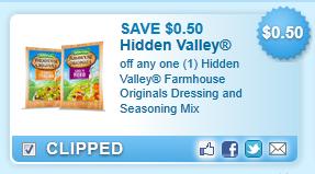 Hidden Valley Farmhouse Originals Dressing And Seasoning Mix  Coupon
